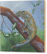 Channel Islands Night Lizard Wood Print