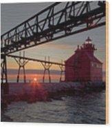 Channel Light, Dawn Wood Print