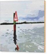 Channel Marker, Banana River, Merritt Island, Fl Wood Print