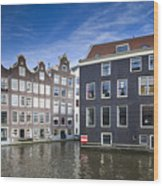 Channles Of Amsterdam Wood Print