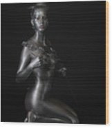Chantal - Silver Lady Wood Print