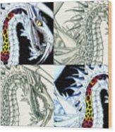 Chaos Dragon Fact W Fiction Wood Print