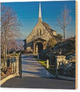 Chapel At Glassy Wood Print