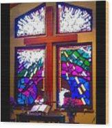 Chapel At The Wesleyan At Scenic Wood Print