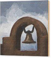 Chapel Bell Chimayo Painterly Effect Wood Print