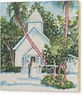 Chapel By The Sea Captiva Wood Print