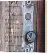 Chapel Door - Verse Wood Print