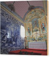 Chapel In Azores Islands Wood Print