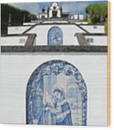 Chapel In The Azores Wood Print