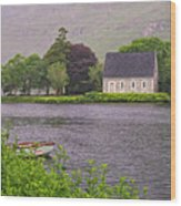 Chapel In The Mist - Gougane Barra - County Cork - Ireland Wood Print