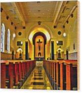 Chapel Interior I Wood Print