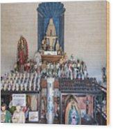 Chapel Mortuary Interior - San Xavier Del Bac Mission - Tucson Arizona Wood Print