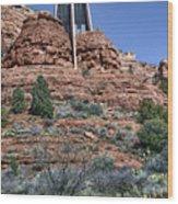 Chapel Of The Holy Cross - Arizona Wood Print