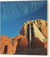 Chapel of the Holy Cross, Sedona, Arizona Wood Print
