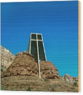 Chapel Of The Holy Cross Sedona Arizona Wood Print
