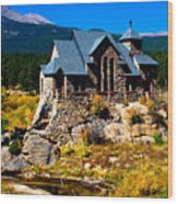 Chapel On The Rock  Wood Print