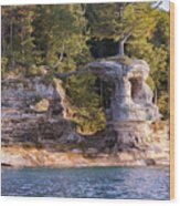 Chapel Rock Wood Print