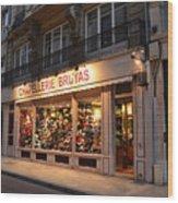 Chapellerie Bruyas Hat Store Wood Print