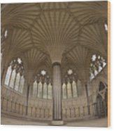 Chapter House, Wells Cathedral, Somerset Uk Wood Print