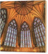 Chapter House York Minster Wood Print