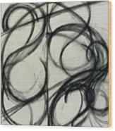 Charcoal Arc Drawing 6 Wood Print