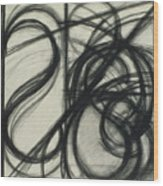 Charcoal Arc Drawing 7 Wood Print