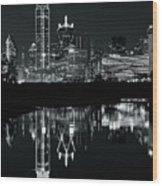 Charcoal Night In Dallas Wood Print
