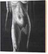 Charcoal Nude Study Wood Print