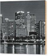 Charcoal Panoramic In Pittsburgh 2017 Wood Print