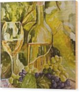 Chardonnay At The Vineyard Wood Print