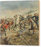 Charge Of The Seventh Cavalry Wood Print