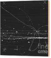 Charged Particles, Bubble Chamber Event Wood Print