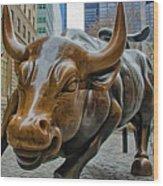 Charging Bull 4 Wood Print