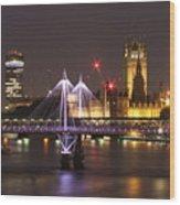 Charing Cross Bridge Wood Print