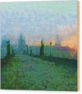 Charles Bridge At Dawn Wood Print by Peter Kupcik