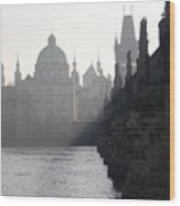 Charles Bridge At Early Morning Wood Print by Michal Boubin