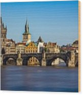 Charles Bridge Wood Print