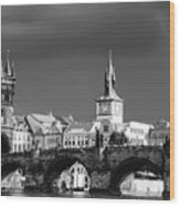 Charles Bridge Prague Czech Republic Wood Print by Matthias Hauser