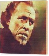 Charles Bukowski, Literary Legend Wood Print