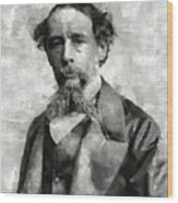 Charles Dickens Author Wood Print