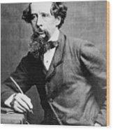 Charles Dickens Wood Print