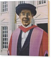 Charles Harpum Receiving Doctorate Of Law Wood Print