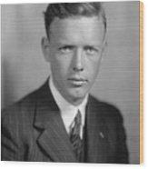 Charles Lindbergh 1902-1974 American Wood Print by Everett