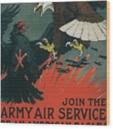 Join The Army Air Service Wood Print