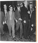 Charles Lucky Luciano In Center Wood Print