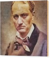 Charles Pierre Baudelaire, Literary Legend Wood Print