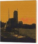 Charles River 1967 Wood Print