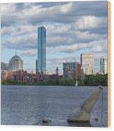 Charles River Boston Ma Crossing The Charles Wood Print