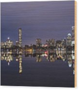 Charles River Clear Water Reflection Wood Print