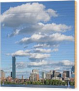 Charles River Cloud Stack Boston Ma Wood Print